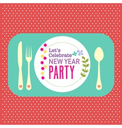 New year party greeting card background vector