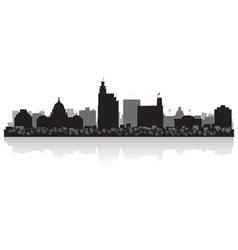 Jackson usa city skyline silhouette vector
