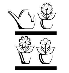 Flower pot vector