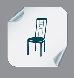 Chair icon symbol furniture icon home interior vector