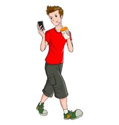 Teen and gadget vector