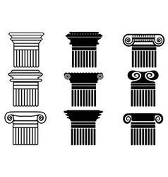 Column icons set vector