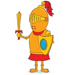 Golden knight vector