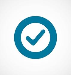 Ok bold blue border circle icon vector