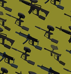 Paintball guns seamless pattern vector