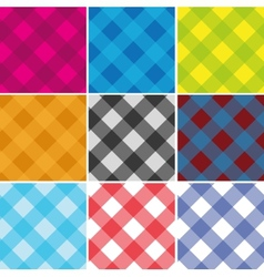 Seamless cross weave gingham pattern vector