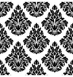 Intricate black and white arabesque design vector