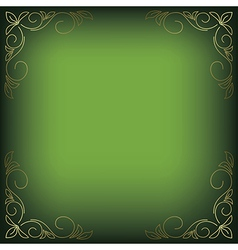 Bright green background with floral decor vector