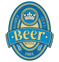 Beer label design vector