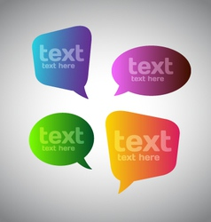 Colorful speech bubbles vector