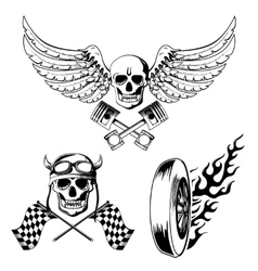 Motorcycle bike labels set vector