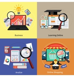 Learning online shopping analize and business vector