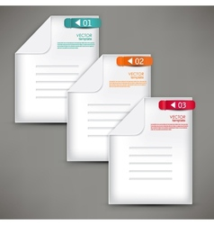Empty paper sheet with colorful numbered bookmarks vector
