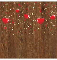Valentines wooden panel vector