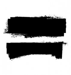 Grunge ink banner vector
