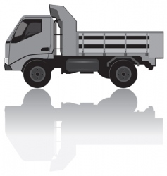 Medium trucks vector