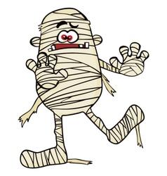 Creepy mummy vector