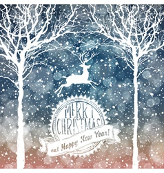 Christmas deer with label vector
