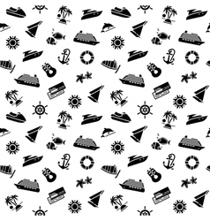 Wrapping paper - transport icons wallpaper 10eps vector