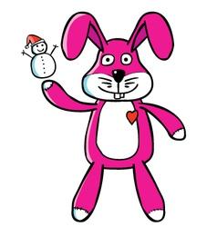 Bunny puppet vector