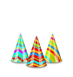 Colorful party hats for your holiday isolated on vector
