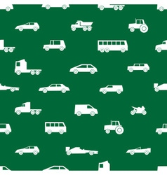 Simple cars black silhouettes icons pattern eps10 vector
