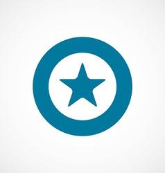 Star bold blue border circle icon vector