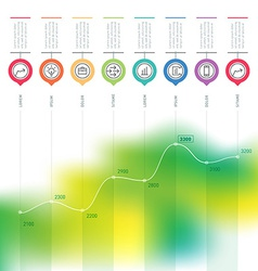 Business chart graph of increase infographics with vector