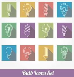 Light bulbs bulb icon set vector