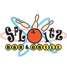 Retro bowling alley signs vector
