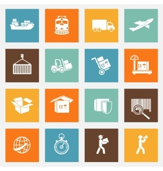 Logistic services pictograms collection vector