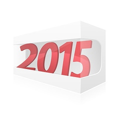 New year packing box vector