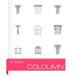 Coloumn icons set vector