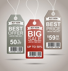 Shopping and retail tags vector
