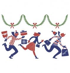 Christmas rush vector