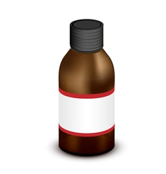 Medicine bottle vector