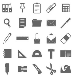 Stationary icons on white background vector