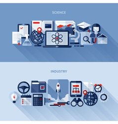 1flat design elements of science and industry vector
