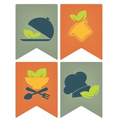 Food flags vector