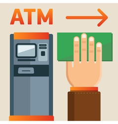 Atm plate vector
