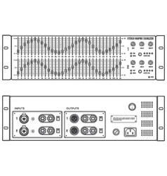 Outline stereo graphic professional equalizer vector