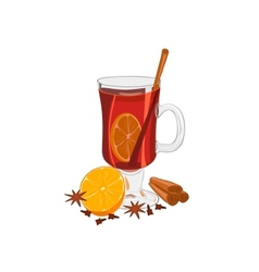 Hot mulled wine vector