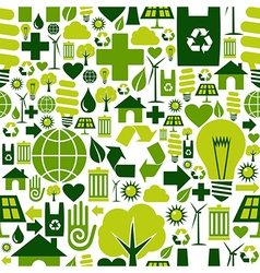 Green environment icons pattern background vector