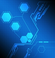 Modern interface technology screen vector