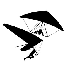 Two hang gliders vector