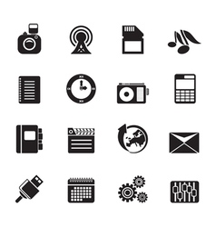 Silhouette business and office vector