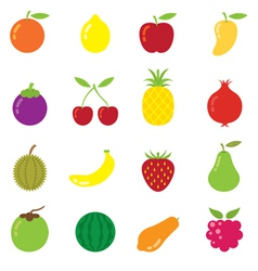 Mixed fruits icons vector