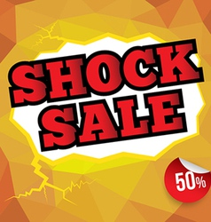 Shock sale banner vector