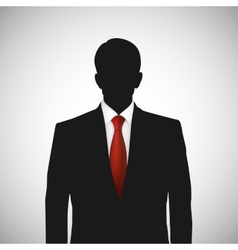 Unknown person silhouette whith red tie vector