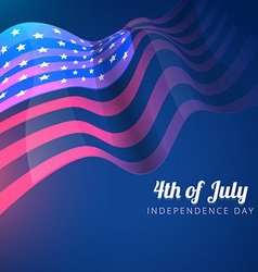 American flag 4th of july background vector